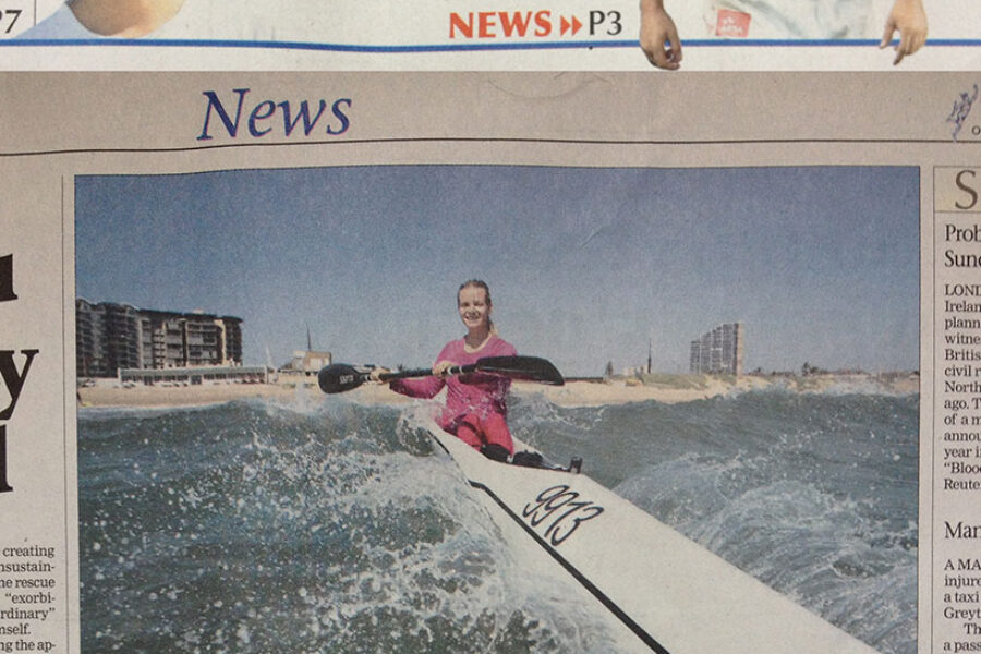 Lettie Paddle getting some airtime with my images …