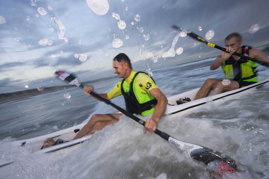 Great light conditions for W&B Surfski